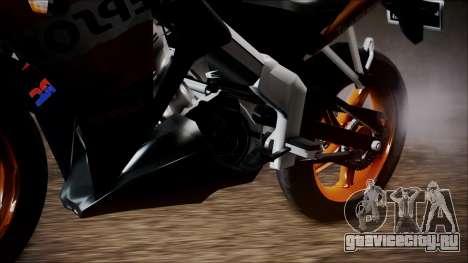Honda CBR150R Repsol CBU для GTA San Andreas вид сзади слева