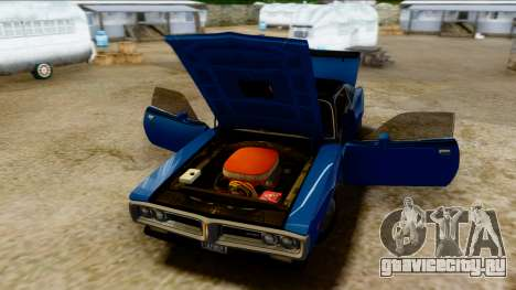 Dodge Charger Super Bee 426 Hemi (WS23) 1971 PJ для GTA San Andreas вид сзади
