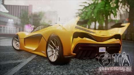 Grotti Turismo RXX-K для GTA San Andreas вид слева