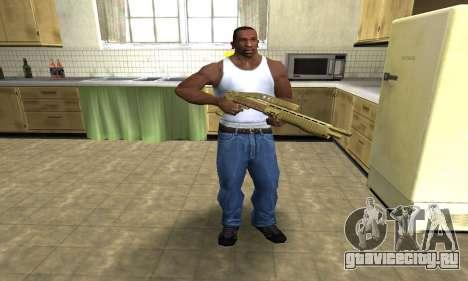 Zloty Tajfun Combat Shotgun для GTA San Andreas третий скриншот