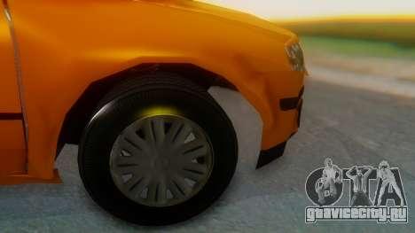 Samand Taxi для GTA San Andreas вид сзади слева