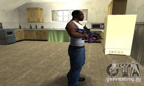 Blue Scan M4 для GTA San Andreas третий скриншот