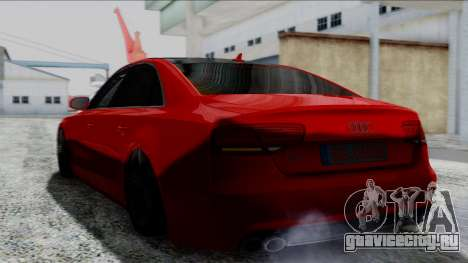 Audi A8 Turkish Edition для GTA San Andreas вид сзади слева