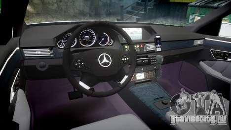 Mercedes-Benz E63 AMG Estate 2012 Police [ELS] для GTA 4 вид сзади