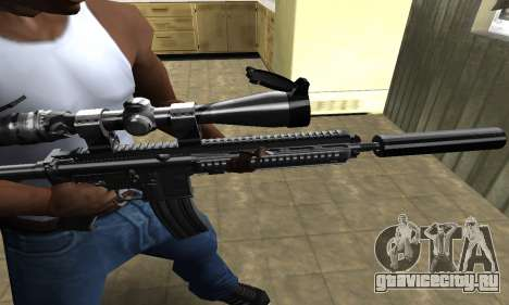 M4 with Optical Scope для GTA San Andreas второй скриншот