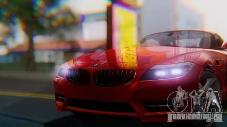 BMW Z4 sDrive35is 2011 2 Extras для GTA San Andreas вид справа