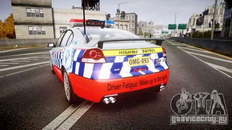 Holden Commodore SS Highway Patrol [ELS] для GTA 4 вид сзади слева