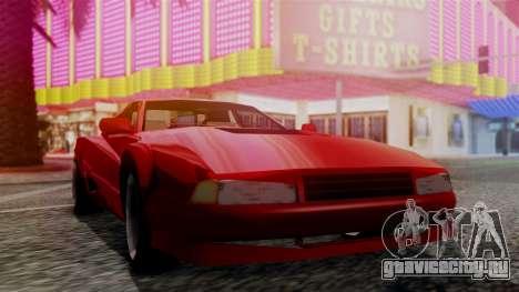 Cheetah New Edition для GTA San Andreas вид сзади слева