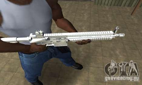 White Cool M4 для GTA San Andreas второй скриншот