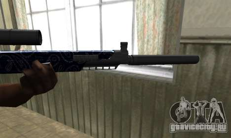 Blue Oval Sniper Rifle для GTA San Andreas второй скриншот