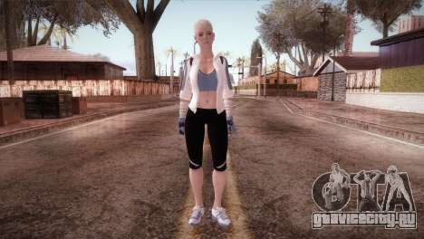 Endurance Cassie Cage from Mortal Kombat X для GTA San Andreas второй скриншот