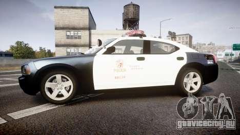 Dodge Charger 2010 LAPD [ELS] для GTA 4 вид слева