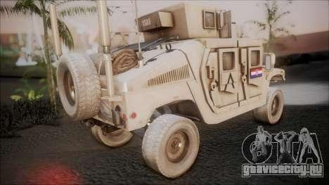 HMMWV Croatian Army ISAF Contigent для GTA San Andreas вид слева