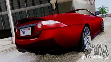 Jaguar XKR-S 2011 Cabrio для GTA San Andreas вид слева