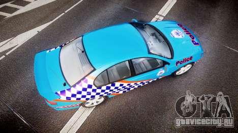 Ford Falcon BA XR8 Police [ELS] для GTA 4 вид справа