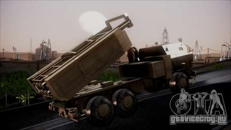 M142 HIMARS Desert Camo для GTA San Andreas вид сзади слева