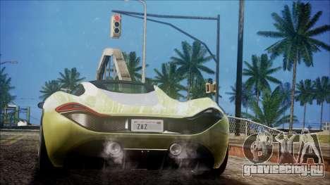 GTA 5 Progen T20 для GTA San Andreas вид слева