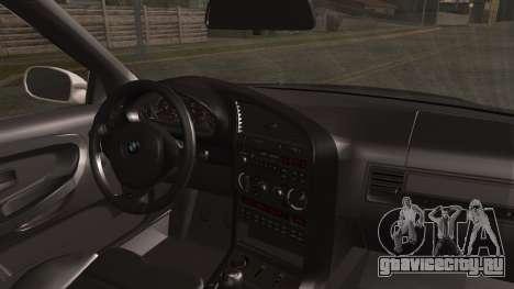 BMW M3 E36 Police для GTA San Andreas вид сзади слева