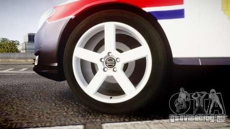 Volvo V70 2014 Norwegian Police [ELS] для GTA 4 вид сзади
