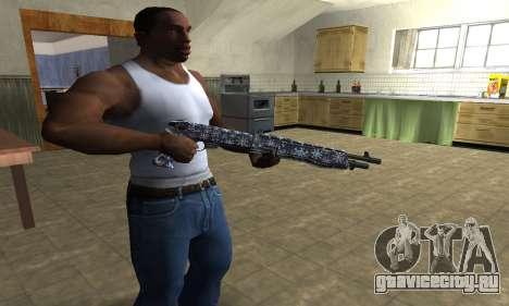 Snowflake Combat Shotgun для GTA San Andreas второй скриншот