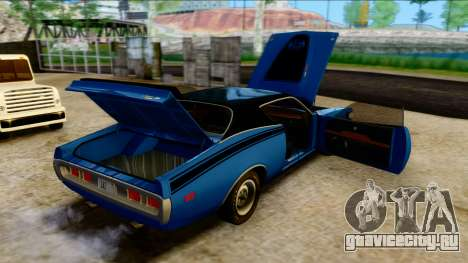 Dodge Charger Super Bee 426 Hemi (WS23) 1971 PJ для GTA San Andreas вид изнутри