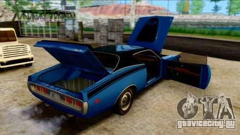 Dodge Charger Super Bee 426 Hemi (WS23) 1971 PJ для GTA San Andreas вид изнутри
