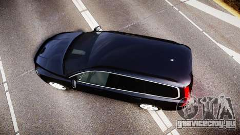 Volvo V70 2014 Unmarked Police [ELS] для GTA 4 вид справа