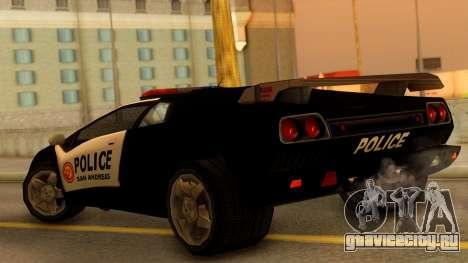 Lamborghini Diablo Police SA Style для GTA San Andreas вид слева