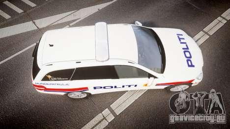 Mercedes-Benz E63 AMG Estate 2012 Police [ELS] для GTA 4 вид справа