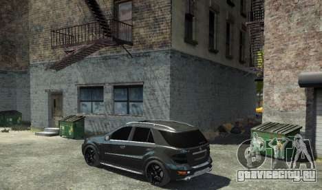 Mercedes-Benz ML63 AMG для GTA 4 вид слева