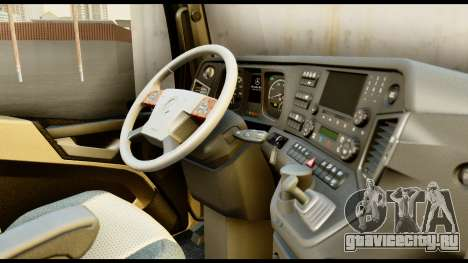 Mercedes-Benz Actros MP4 4x2 Exclusive Interior для GTA San Andreas вид справа