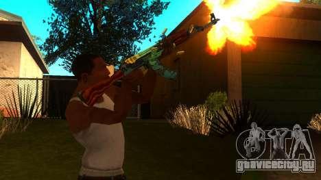 AK-47 Огненный Змей для GTA San Andreas третий скриншот