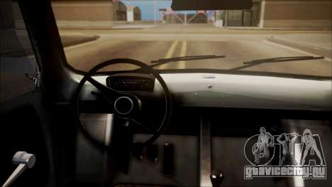 Fiat 600 для GTA San Andreas вид сзади слева