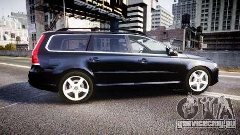 Volvo V70 2014 Unmarked Police [ELS] для GTA 4 вид слева