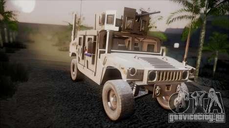HMMWV Croatian Army ISAF Contigent для GTA San Andreas