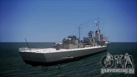 Type 34 Destroyer для GTA San Andreas вид слева