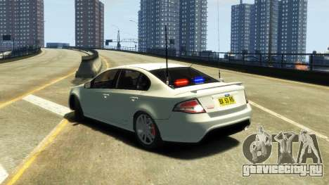 Ford Falcon FG XR6 Turbo Unmarked Police [ELS] для GTA 4 вид слева