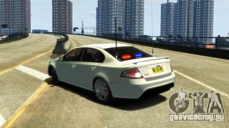 Ford Falcon FG XR6 Turbo Unmarked Police [ELS] для GTA 4 вид слева
