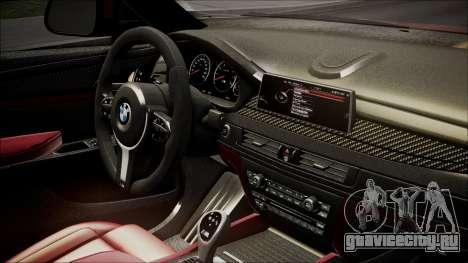 BMW X6M 2015 для GTA San Andreas вид справа