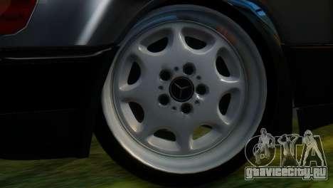 Mercedes-Benz W124 для GTA San Andreas вид сзади слева