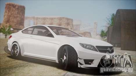 Benefactor Schwartzer Gray Series для GTA San Andreas вид сзади