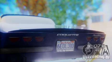 Invetero Coquette BlackFin v2 GTA 5 Plate для GTA San Andreas вид снизу