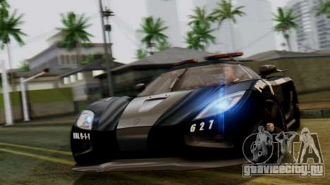 NFS Rivals Koenigsegg Agera R Enforcer для GTA San Andreas