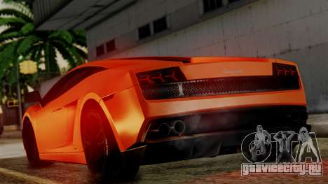 Lamborghini Gallardo Superleggera 2011 для GTA San Andreas вид справа