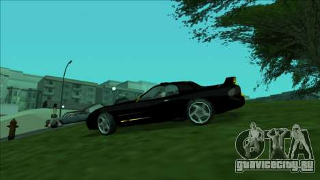 ZR-350 Double Lightning для GTA San Andreas вид изнутри