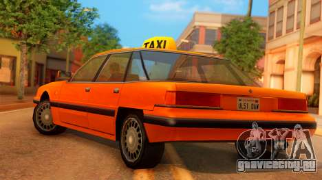 Taxi Intruder для GTA San Andreas вид слева