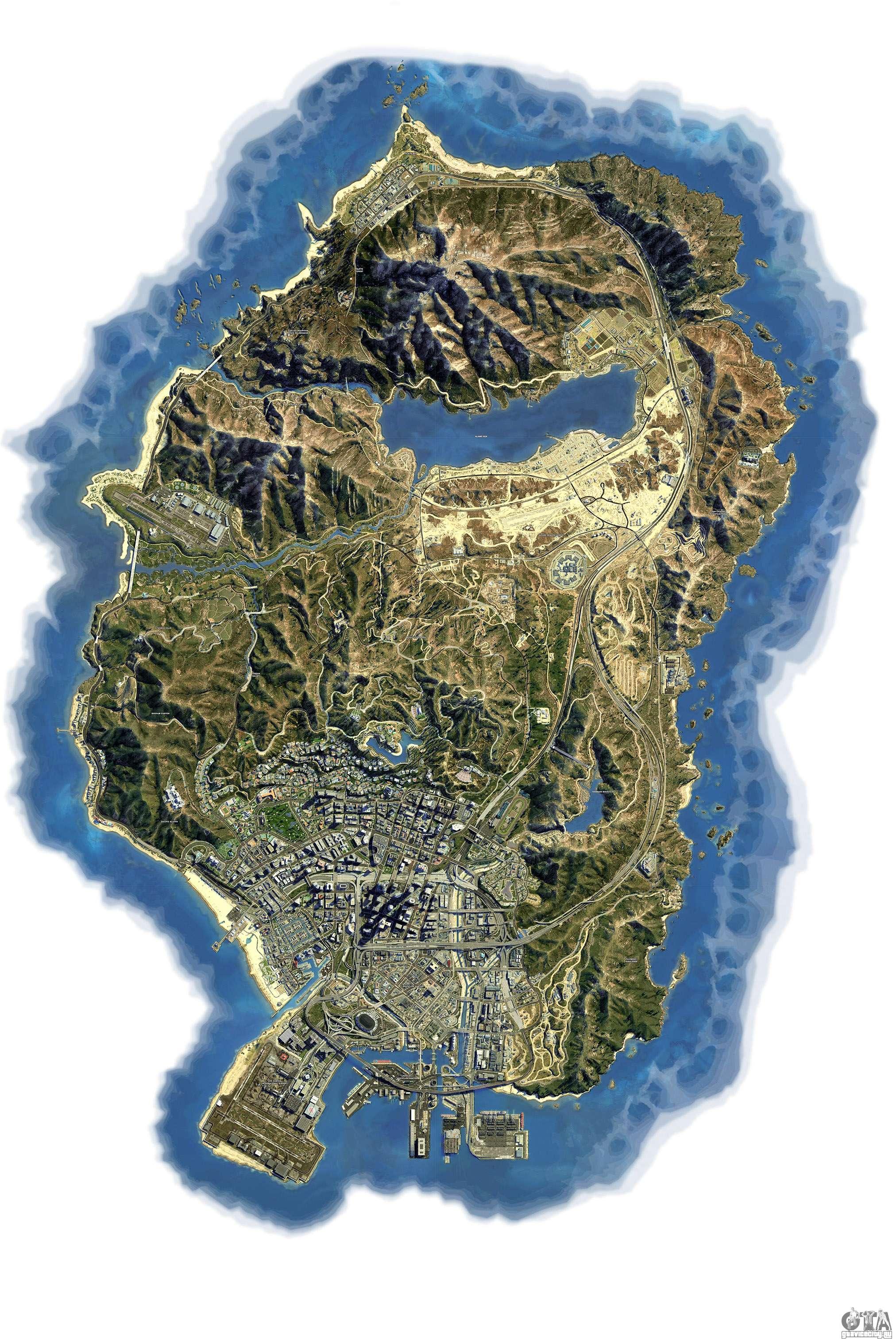 гта 5 карта фото