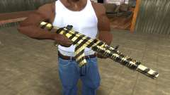 Gold Lines AK-47 для GTA San Andreas
