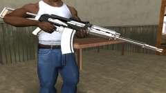 White with Black AK-47 для GTA San Andreas