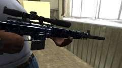 Blue Oval Sniper Rifle для GTA San Andreas